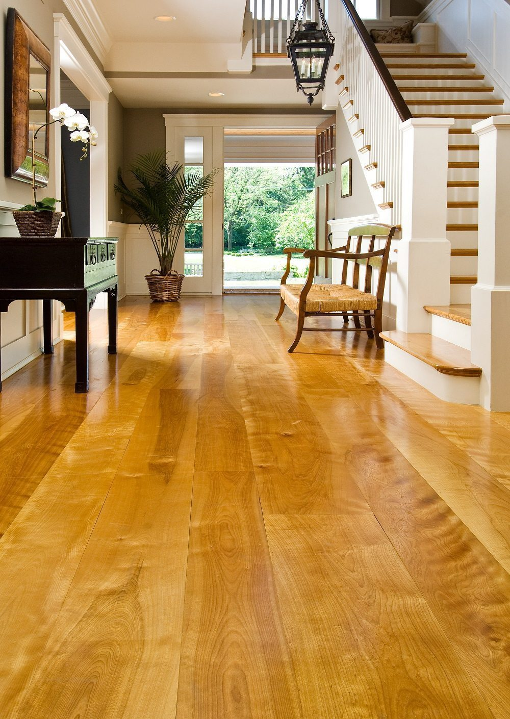 Wide plank birch floors in illinois family home for Wood flooring illinois