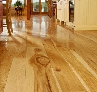 Guests call their Hickory floor 'beautiful' and 'unusual'