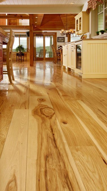 Hickory Floors In Kitchen