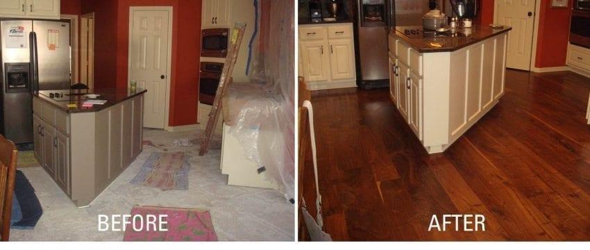 Houston Do-It-Yourself Walnut Flooring Concrete Installation