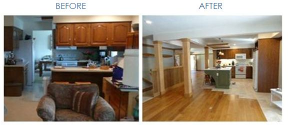 Before After Cheyenne Walkway With Wood Flooring
