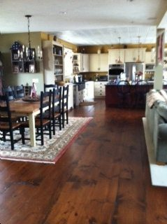 A little convincing…and a beautiful Wide Plank White Pine Floor