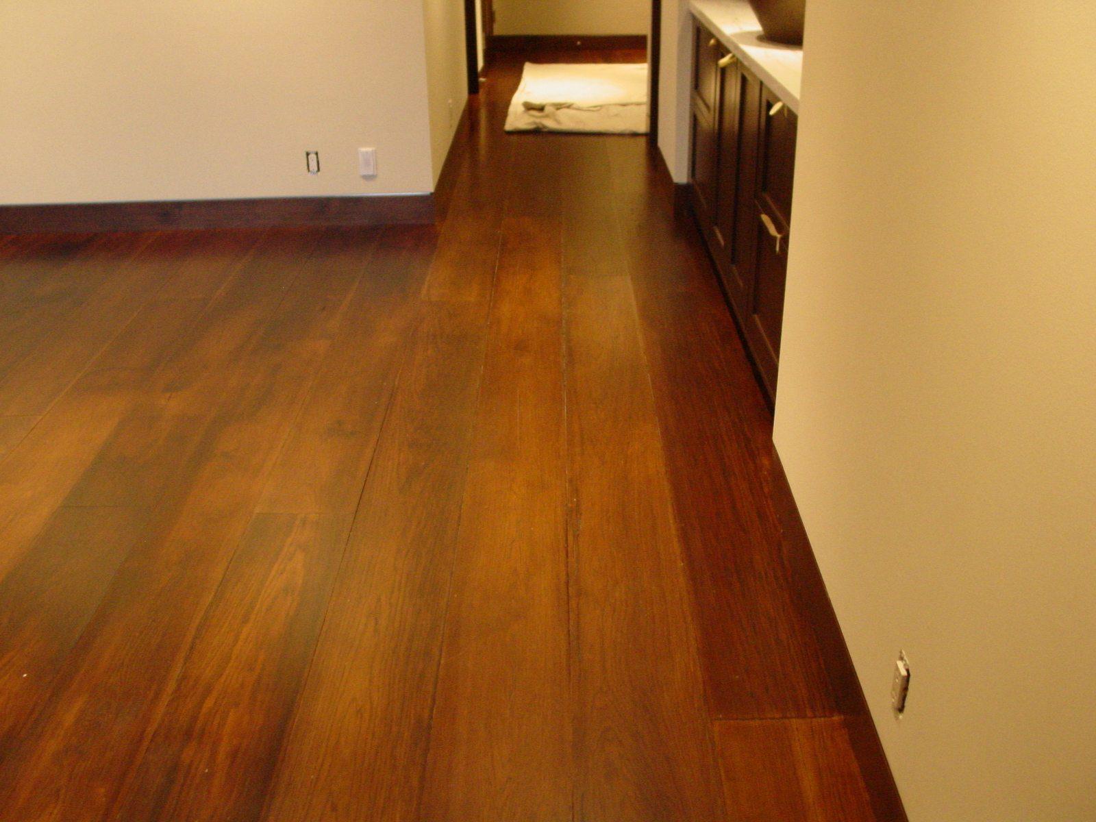 Dark Handscraped Hickory White Oak Floor In Vail