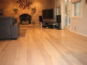Ash Floor In Living Room side angle
