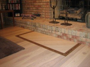 Ash Floor In Living Room and fireplace