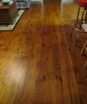 Barrineau Residence ~ Beautiful Heart Pine Floors from a DIY