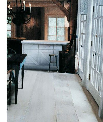 Eastern White Pine Flooring In Dining Room