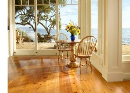Antique Heart Pine Floors, Winkler Home, Carlisle Wide Plank Floors