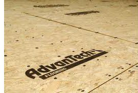 Plywood, like Advantech, is a common subfloor.