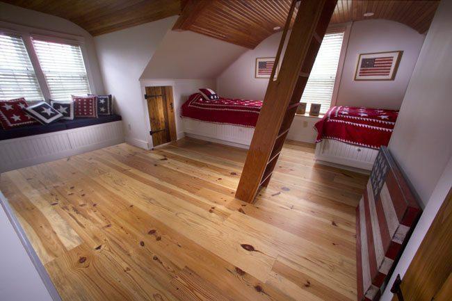 Antique Hardwood Flooring In Seaside Home