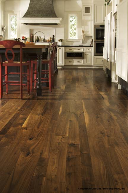 Dark wood floors from Carlisle Wide Plank Floors.