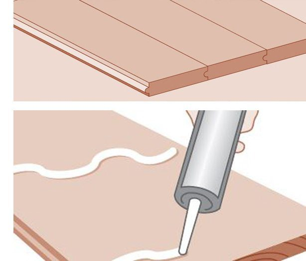 Blind nail and glue diagram