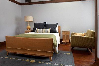 Hand planed pine flooring