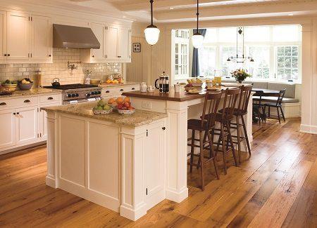 Antique Wood Floor in kitchen