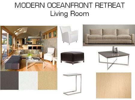 Design Board With Wide Plank Floors For Modern Living Room