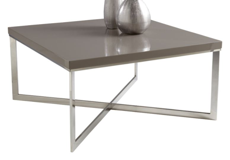 Silver Coffee Table from inMod on Carlisle Wide Plank Floors