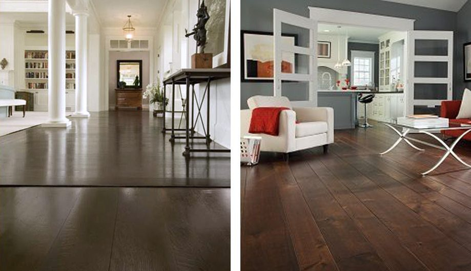 Two Examples Of Dark Wood Flooring