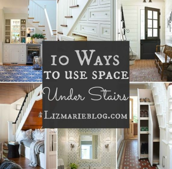 10 Ways to use Space under the Stairs from Designer Liz Marie on the Carlisle Wide Plank Floors Blog