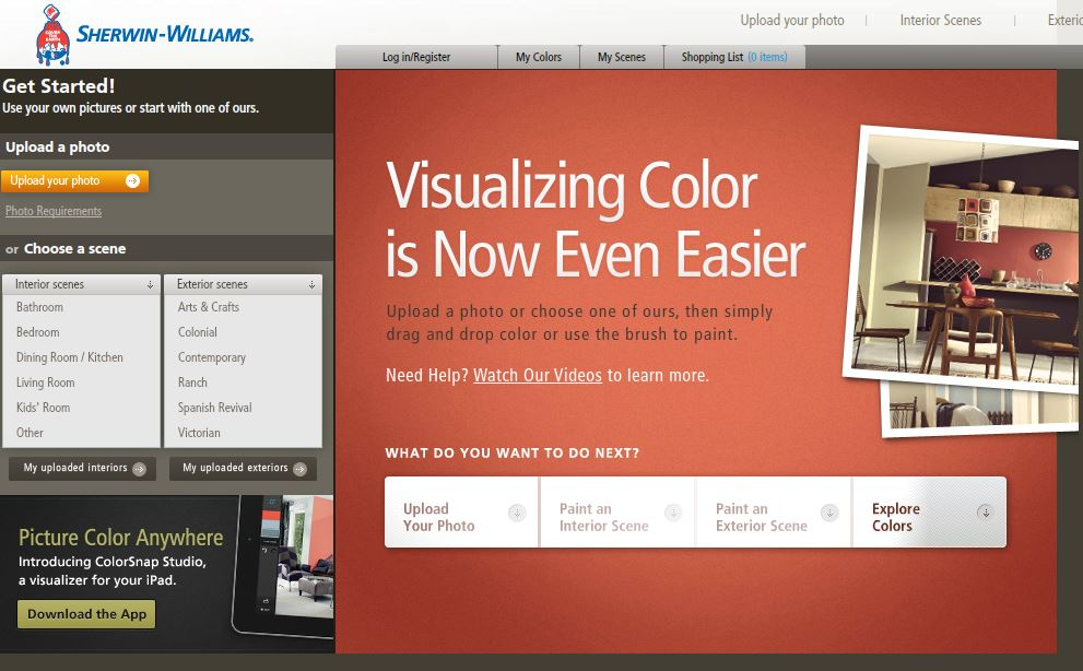 Paint Visualizer from Sherwin Williams from Carlisle Wide Plank Floors Blog