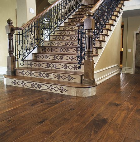 Walnut Hardwod Flooring and Stair Treads from Carlisle Wide Plank Floors