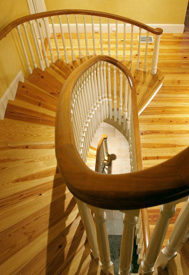 Heart Pine Floors and Stair treads from Carlisle Wide Plank Floors