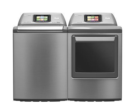 LG Home Chat Washing Machine and Dryer on Carlisle Wide Plank Floors Blog