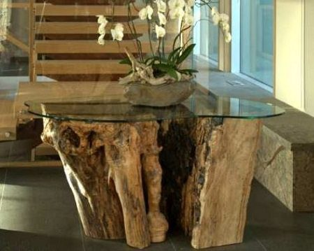 Live Edge Design Entry Console Table on Carlisle Wide Plank Floors Blog