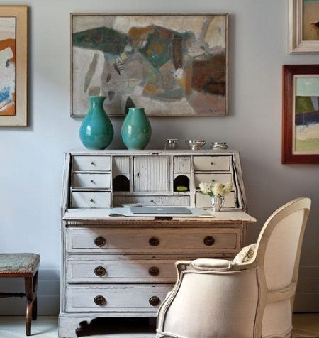 Vintage Furniture for your Home Office on the Carlisle Wide Plank Floors Blog