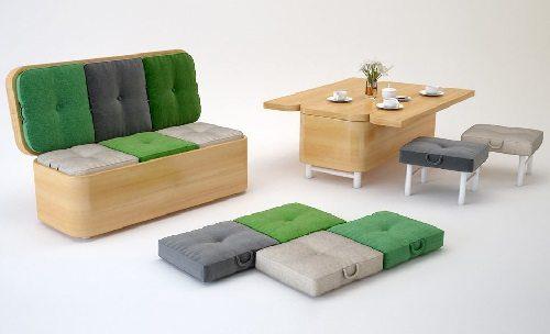 Julie Kononeko Convertible Sofa on Carlisle Wide Plank Floors Blog