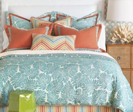 Eastern Accents Capri Bedding on the Carlisle Wide Plank Floors Blog