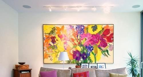 Toronto living Room with Floral Painting on Carlisle Wide Plank Floors Blog