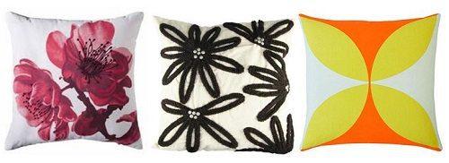 Floral Print Pillows on Carlisle Wide Plank Floors Blog