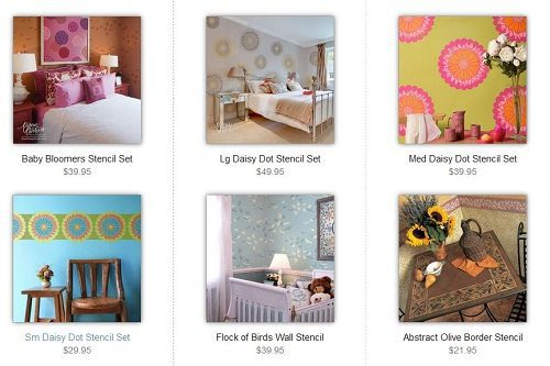 Floral Stencils from Royal Design Studio on Carlisle Wide Plank Floors Blog