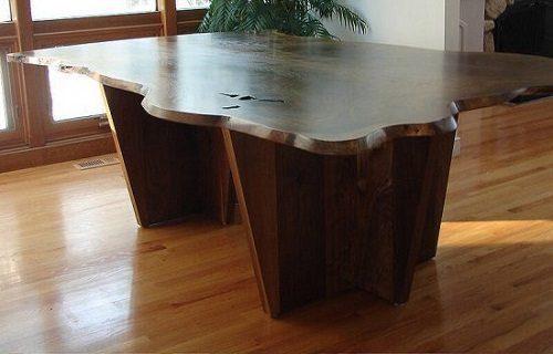 Live Edge Walnut Dining Room Table vermont wood studios