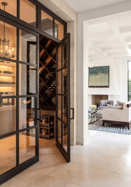 transitional wine cellar by Shm Architects in Caruth Residence