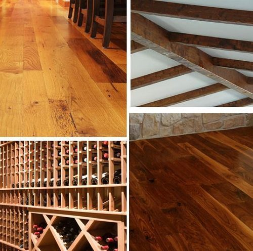 Dark Wood Flooring and Reclaimed Wood Flooring for Wine Cellars from Carlisle Wide Plank Floors