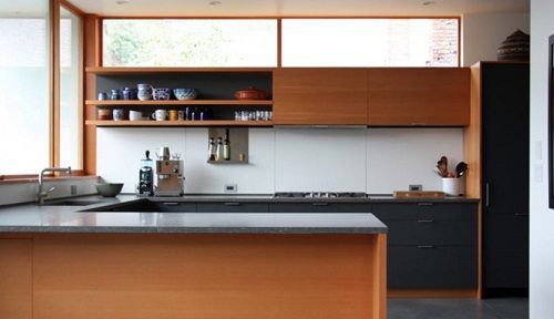 HenryBuilt crafts beautiful contemporary kitchen cabinets for the environmentally conscious.