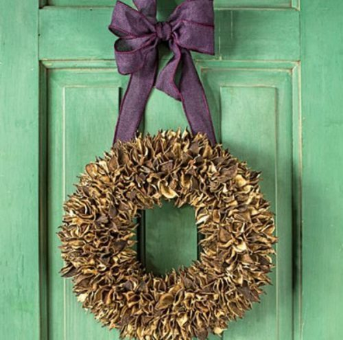 Cotton Bur Wreath Southern Living on Carlisle Wide Plank Floors Blog