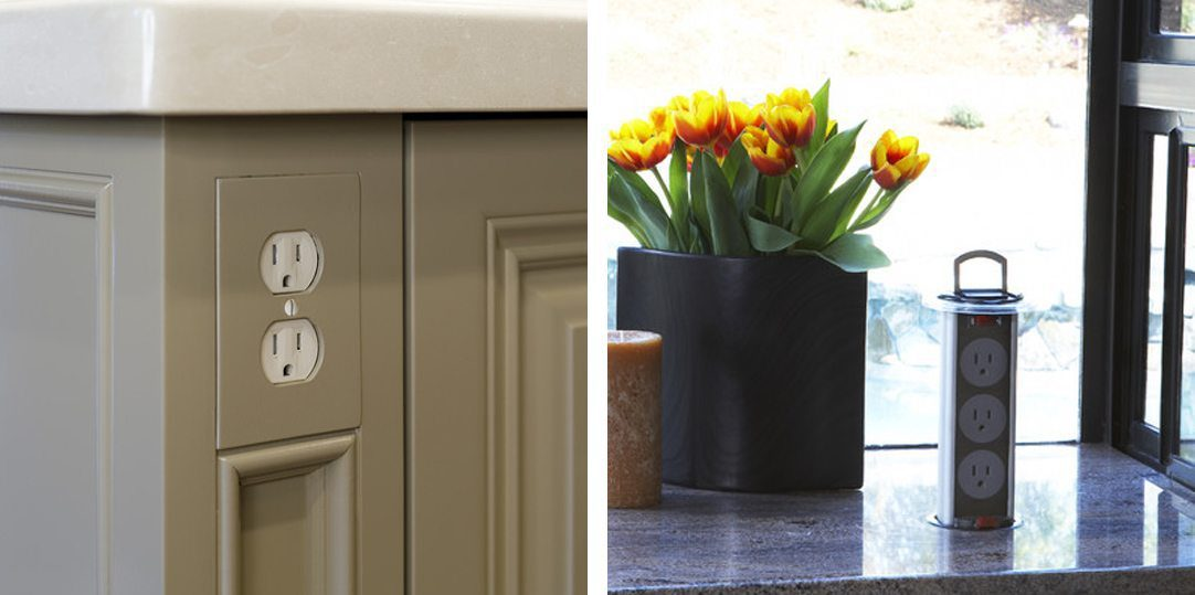 2 examples of hidden kitchen outlets