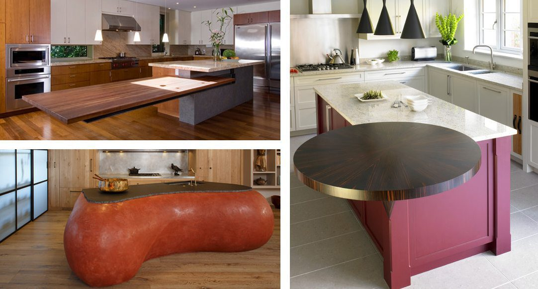3 examples of contemporary kitchen islands