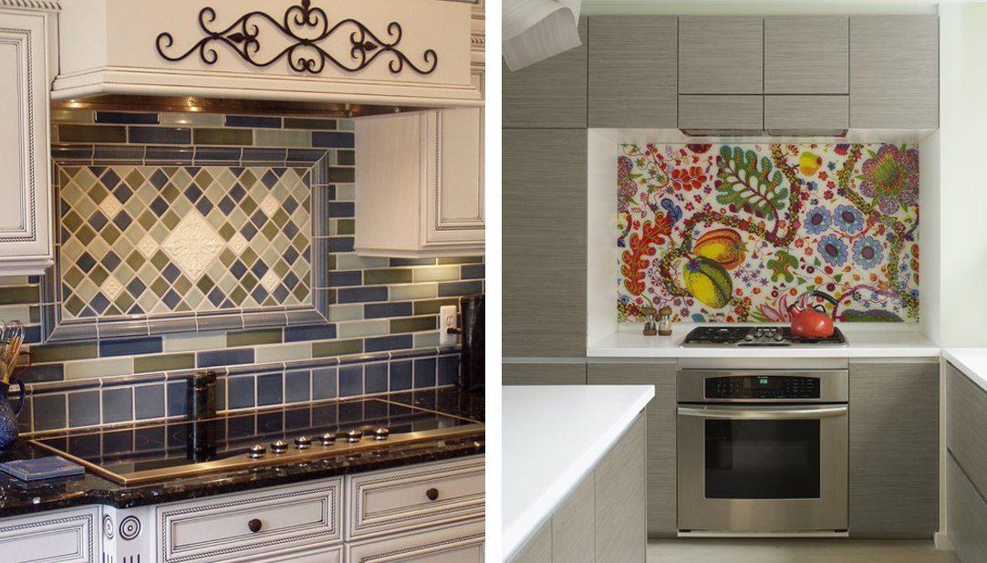 2 tile kitchen backsplashes