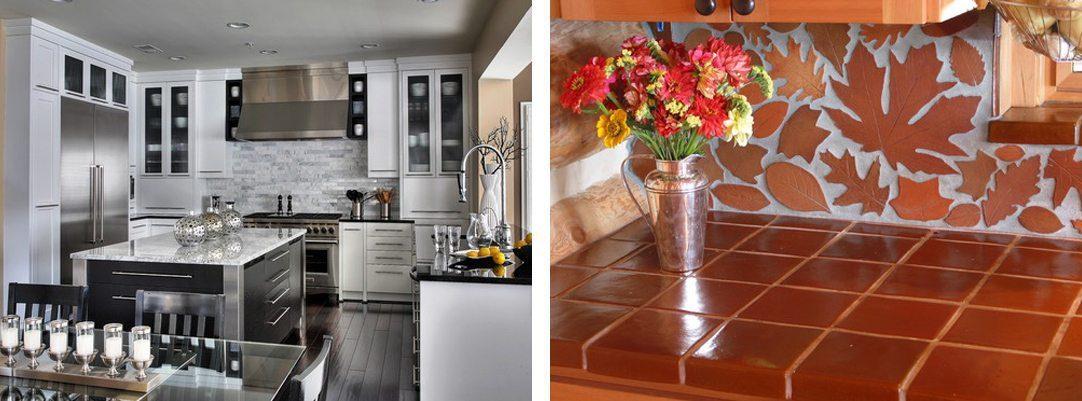 2 pattern kitchen backsplashes