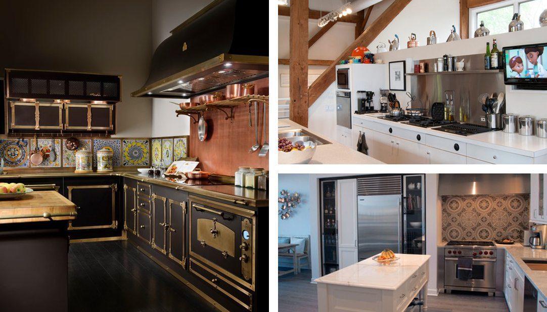 Kitchen backsplash inspiration: copper, stainless steel and pattern tile