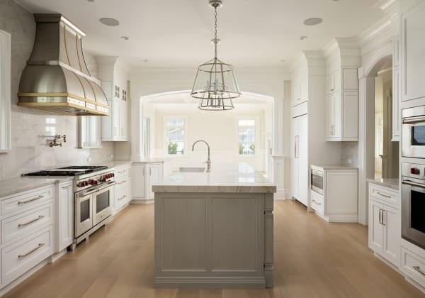light hardwood flooring in kitchen
