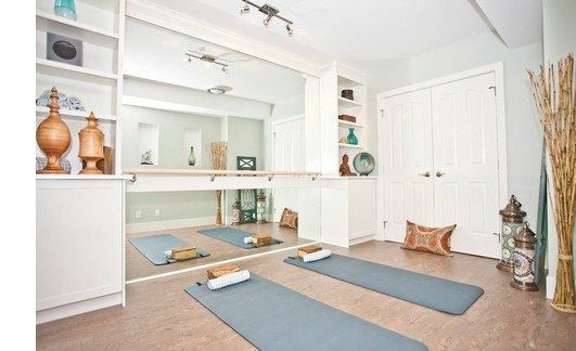 Asian Home Gym by Calgary Interior Designers & Decorators ANA Interiors