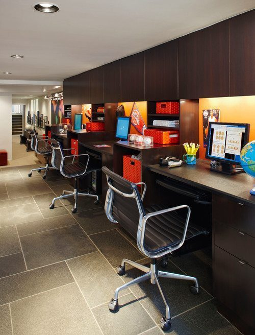 Contemporary Home Office by Birmingham Interior Designers & Decorators Jeffrey King Interiors