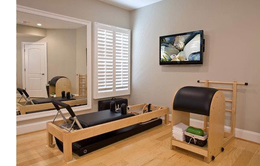 Traditional Home Gym by Sterling Home Media Design & Installation Encore Custom Audio Video