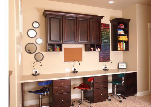 Traditional Home Office by Fort Collins Building Designers and Drafters Rentfrow Design, LLC