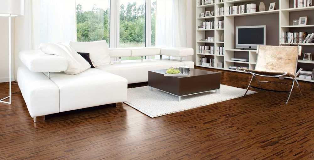 Cork plank flooring from Carlisle Wide Plank Floors