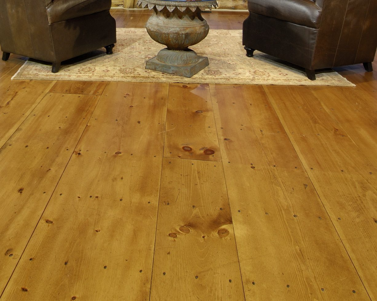 Wide plank pine floors stand the test of time with style for Wide plank wood flooring